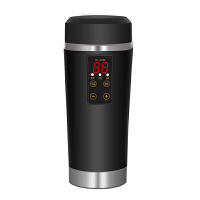 车载电热水杯 C07数显加热杯100度12V/24V旅行电热水壶 车用烧水壶烧水杯保温 12V/24V通用