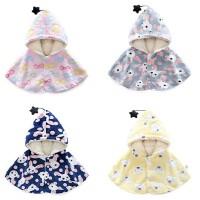 婴儿童防风斗篷加厚披风外出服女宝宝披肩6秋冬装3外套装0岁1冬季