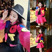 韩版套装裙子新款女装秋季冬天外套搭配 学生两件套18-25周岁