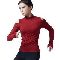 20180412125045900秋冬季瑜伽服上衣女长袖健身房专业运动跑步健身服女速干衣女韩版