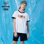 诺诗兰童装儿童套装2021夏季男童短袖短裤大童速干排汗运动两件套