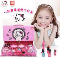 20180713203521660凯蒂猫 儿童化妆品 公主手提化妆箱女孩生日礼物品美妆彩妆盒玩具