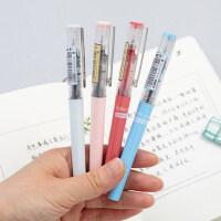 白雪0.5针管中性笔 直液式小清新学生走珠笔用考试水笔签字笔批发