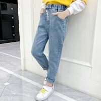 女童牛仔裤2020新款春装中大童时髦春秋儿童宽松休闲裤子