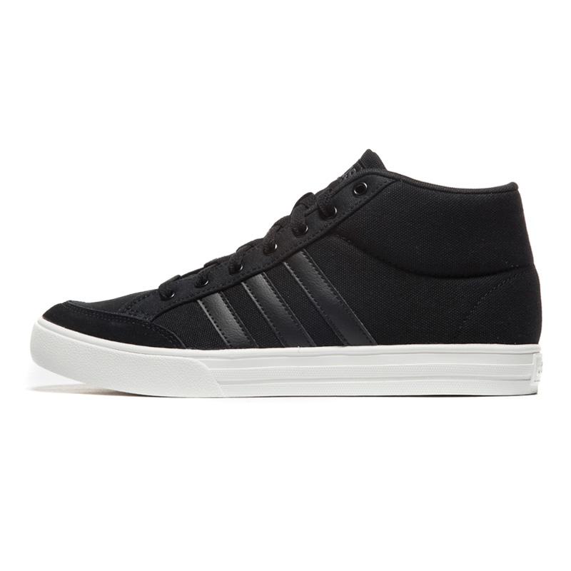Adidas/阿迪达斯男鞋 2018新款VS SET MID防滑耐磨运动休闲鞋板鞋篮球鞋 B44605 VS SET MID防滑耐磨运动休闲鞋板鞋篮球鞋