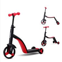 Nadle纳豆 三合一儿童滑板车三轮骑滑车可坐人1-3-5岁宝宝多功能滑滑车