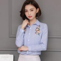 时尚长袖短款百搭唯美修身显瘦韩版可爱街头衬衫2018年春季