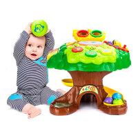 婴儿满月礼物早教益智屋群兴阿贝鲁游戏桌多功能学习玩具台智慧树
