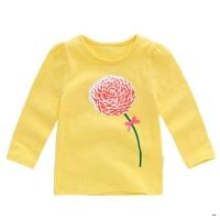 女童秋衣上衣1-3岁5童装儿童长袖T恤春秋宝宝春装2-6小童打底衫女
