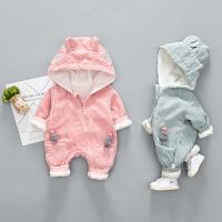 婴儿衣服春季0-1岁新生儿连体衣男女宝宝爬爬服春装哈衣