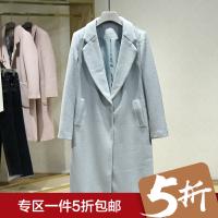 毛呢外套女冬装新款 呢大衣韩版百搭中长款纯色休闲呢大衣