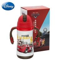 正品迪士尼不锈钢保温杯 易趣双柄学饮杯 儿童300ml吸管杯
