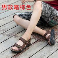凉鞋女夏季户外沙滩鞋真皮平底学生运动凉鞋涉水防滑登山鞋旅游鞋