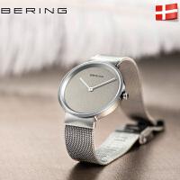 bering白令2017新品进口手表防水简约女手表时尚潮流钢带男士腕表
