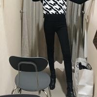 秋冬新款韩版时尚套装针织马甲打底衫加绒小脚外穿打底裤三件套女