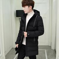 2019新款冬季外套男士棉衣中长款韩版修身棉袄男装加厚羽绒棉服