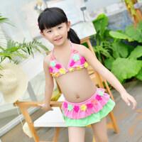 儿童游泳衣女童女孩泳装比基尼套装宝宝分体中大童 支持礼品卡支付