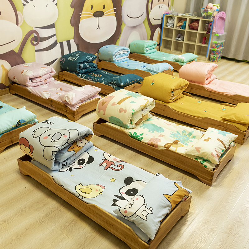 幼儿园被子三件套午睡儿童纯棉被褥含芯宝宝六件套入园床品