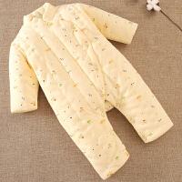连体衣婴儿哈衣新生儿棉衣宝宝外出保暖衣服秋冬装