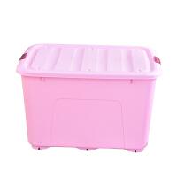 250L特大号塑料棉被装衣服储物箱玩具收纳盒加厚滑轮整理箱 三个装 80L+120L+250L