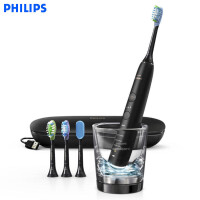 飞利浦 (PHILIPS) 电动牙刷 蓝牙版 成人声波震动钻石系列(自带刷头*4+充电旅行盒+充电玻璃杯) HX992