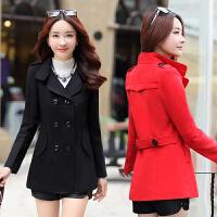 中年人女装春季修身显瘦气质毛呢外套短款大衣女30-40-50岁妈妈装