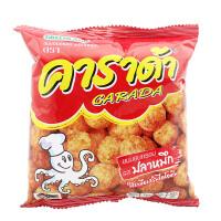 泰国进口卡啦哒鱿鱼味米球17克膨化米球休闲零食