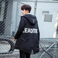 连帽羽绒服男冬季短款韩版修身型青少年学生个性潮牌加厚保暖外套
