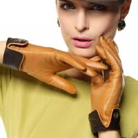 新款时尚女士皮手套优雅加绒保暖女士真皮手套 进口羊皮 可礼品卡支付