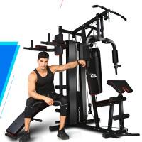 大型健身器材家用 多功能综合训练器运动组合力量健身房器械套装 豪华4人站实心沙袋+引体向上