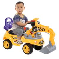 儿童玩具挖土机可坐可骑宝宝大号挖机音乐工程学步车男孩挖掘机