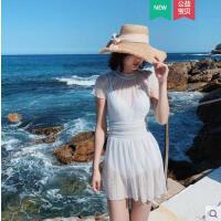 可爱日系泳衣女仙女范性感蕾丝遮肚显瘦裙式保守连体韩国ins泳装