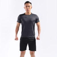 健身服男女两件套情侣跑步运动服套装健身房紧身瑜伽服速干衣夏季