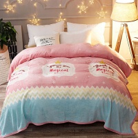 珊瑚绒毯子加厚法兰绒毛毯夏季空调单人午睡毛巾夏凉被子薄款床单