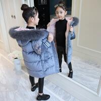 儿童2018新款冬季外套中大童厚款棉衣中长款洋气棉袄女孩