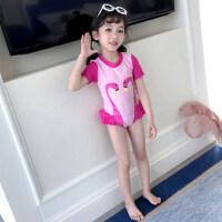 儿童泳衣女游泳衣连体公主裙式泳衣可爱女童泳衣中大童