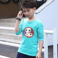 新款男童长袖T恤中大童宝宝春装童装儿童春秋纯棉打底衫