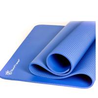 加宽80cm运动垫子加厚加长健身垫男士无味防滑瑜伽垫 深蓝色