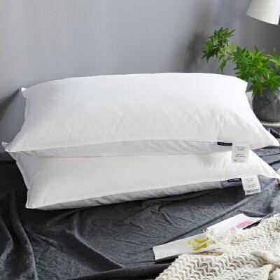 棉蓬松酒店枕芯白色3D细纤维可水洗柔软舒适棉枕头单人J 48*74(双压线一只装)
