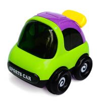儿童玩具车惯性车迷你小汽车模型宝宝火车挖土机男孩工程车玩具 带动作黑超的士 颜色随机