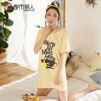 【都市丽人】睡衣睡裙女简约时尚舒适透气柔软棉质女士家居BH7601