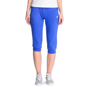 【折上1件5折 2件4折】361度女装2016透气运动七分裤女运动收口短裤