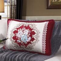 欧式沙发靠枕长方形靠垫抱枕套含芯客厅床头腰靠背家用大号定制T