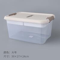 分层收纳箱塑料整理箱子手提式零食收纳盒透明归纳箱小号宿舍收耐 多款可选