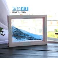 沙漏画摆件玻璃流沙微景观3D立体画创意个性简约现代家居工艺礼物