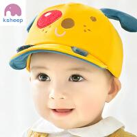 婴儿帽子男女宝宝鸭舌帽3-12个月棒球帽遮阳帽棉布夏季