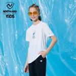 诺诗兰童装儿童T恤短袖2021夏新款男童排汗快干舒适休闲短袖上衣