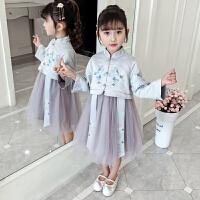 女童汉服秋装宝宝复古中国风儿童唐装连衣裙
