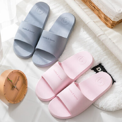 多色家居家用防滑软底拖鞋女士夏季男士家居鞋简约凉鞋