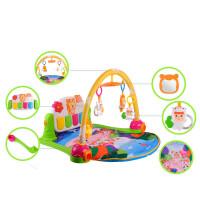 新生儿婴儿宝宝脚踏钢琴健身架器音乐玩具0-1岁早教游戏垫礼物 带遥控 钢琴健身架